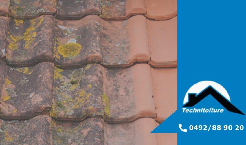 Enlever la mousse sur le toit, démoussage toiture en Brabant, Wavre, Nivelles - Technitoiture